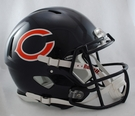 Chicago Bears Riddell Authentic Revolution Speed NFL Full Size On Field Football Helmet