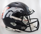 Denver Broncos Riddell Authentic Revolution Speed NFL Full Size On Field Football Helmet