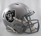 Oakland Raiders Riddell Authentic Revolution Speed NFL Full Size On Field Football Helmet