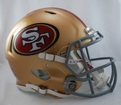 San Francisco 49ers Riddell Authentic Revolution Speed NFL Full Size On Field Football Helmet