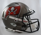 Tampa Bay Bucs Riddell Authentic Revolution Speed NFL Full Size On Field Football Helmet