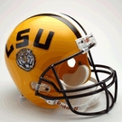 LSU Tigers Autographed Full Size Riddell Deluxe Replica Football Helmets