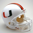 Miami Hurricanes Autographed Full Size Riddell Deluxe Replica Football Helmets