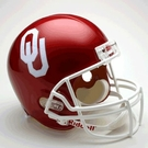 Oklahoma Sooners Autographed Full Size Riddell Deluxe Replica Football Helmets