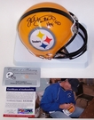 Jack Lambert - Riddell - Autographed Mini Helmet - Pittsburgh Steelers - PSA/DNA