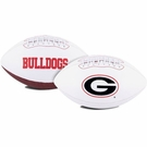 Georgia Bulldogs Logo Full Size Signature Series Football