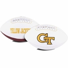 Georgia Tech Yellow Jackets Logo Full Size Signature Series Football
