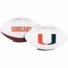 Miami Hurricanes Logo Full Size Signature Series Football