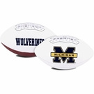 Michigan Wolverines Logo Full Size Signature Series Football