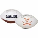 Virginia Cavaliers Logo Full Size Signature Series Football