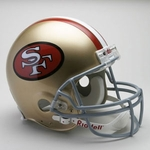 San Francisco 49ers 1964-1995 Throwback Riddell Authentic NFL Full Size On Field Proline Football Helmet