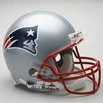 New England Patriots Riddell Authentic NFL Full Size On Field Proline Football Helmet