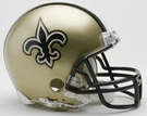 New Orleans Saints Autographed Mini Helmets