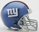 New York Giants Autographed Mini Helmets