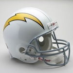 San Diego Chargers 1961-1973 Throwback Riddell Authentic NFL Full Size On Field Proline Football Helmet