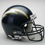San Diego Chargers 1988-2006 Throwback Riddell Authentic NFL Full Size On Field Proline Football Helmet
