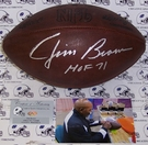 "Jim Brown - Autographed Official Wilson NFL ""THE DUKE"" Throwback Football - PSA/DNA"