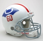 New England Patriots 1960 Throwback Riddell Authentic NFL Full Size On Field Proline Football Helmet