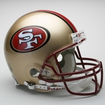 San Francisco 49ers 1996-2008 Throwback Riddell Authentic NFL Full Size On Field Proline Football Helmet