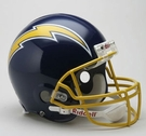 San Diego Chargers 1974-1987 Throwback Riddell Authentic NFL Full Size On Field Proline Football Helmet