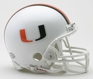 Miami Hurricanes VSR4 Riddell Mini Football Helmet