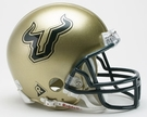 South Florida Bulls USF VSR4 Riddell Mini Football Helmet