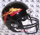 Florida State Seminoles Black Metallic Shell Riddell NCAA Full Size Deluxe Replica Football Helmet