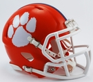 Clemson Tigers Speed Revolution Riddell Mini Football Helmet