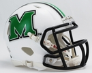 Marshall Thundering Herd Speed Revolution Riddell Mini Football Helmet