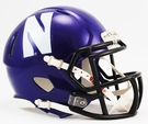 Northwestern Speed Revolution Riddell Mini Football Helmet