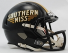 Southern Mississippi Speed Revolution Riddell Mini Football Helmet
