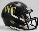Wake Forest Demon Deacons Speed Revolution Riddell Mini Football Helmet