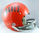 Cincinnati Bengals 1968-1979 Throwback 2-Bar TK Riddell NFL Full Size Football Helmet