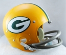 Green Bay Packers 1961-1979 Throwback 2-Bar TK Riddell NFL Full Size Football Helmet
