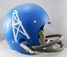 Houston Oilers 1960-1962 Throwback 2-Bar TK Riddell NFL Full Size Football Helmet