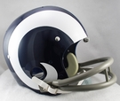 Los Angeles Rams 1965-1972 Throwback 2-Bar TK Riddell NFL Full Size Football Helmet