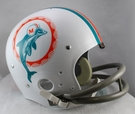 Miami Dolphins 1972 Throwback 2-Bar TK Riddell NFL Full Size Football Helmet