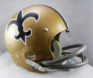 New Orleans Saints 1967-1975 Throwback 2-Bar TK Riddell NFL Full Size Football Helmet