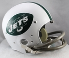 New York Jets 1965-1977 Throwback 2-Bar TK Riddell NFL Full Size Football Helmet