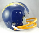 San Diego Chargers 1974-1987 Throwback 2-Bar TK Riddell NFL Full Size Football Helmet