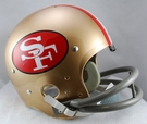San Francisco 49ers 1964-1988 Throwback 2-Bar TK Riddell NFL Full Size Football Helmet