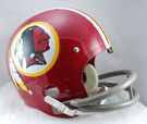 Washington Redskins 1972-1977 Throwback 2-Bar TK Riddell NFL Full Size Football Helmet