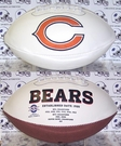 Brian Urlacher - Autographed Chicago Bears Full Size Bucs Logo Football