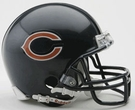 Brian Urlacher - Autographed Chicago Bears Mini Helmet