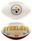Terry Bradshaw - Autographed Pittsburgh Steelers Full Size Logo Football