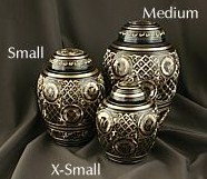 Black & Gold Motif Pet Cremation Urns