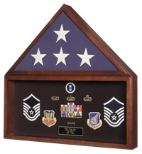 Flag Case w/ Memorabilia Display Case