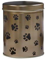 Pawprints Tin Urn