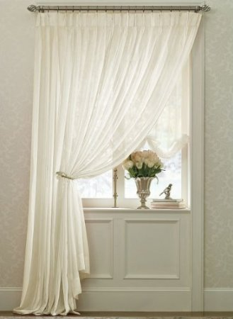 Batiste Pinch Pleated Sheer Curtains
