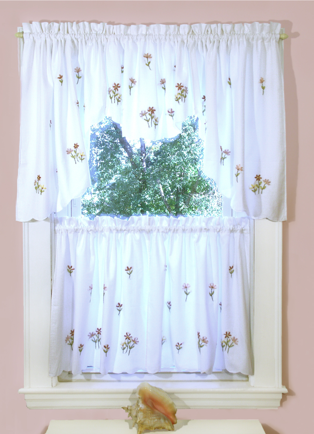Briar Rose Shower Curtain And Window